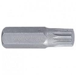 Вставка (бита) торцевая 10 мм, SPLINE, М8, L 36 мм KING TONY 163608M