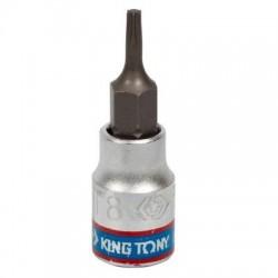"""Насадка (бита) торцевая 1/4"""", TORX T8, L 37 мм KING TONY 203308"""