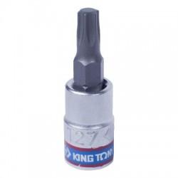 """Насадка (бита) торцевая 1/4"""", TORX T27, L 37 мм KING TONY 203327"""