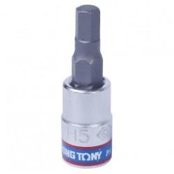 """Насадка (бита) торцевая 1/4"""", HEX, 5 мм, L 37 мм KING TONY 203505"""