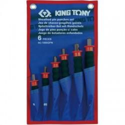 Набор выколоток с протектором, чехол из теторона, 6 предметов KING TONY 1006GPN