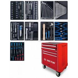 Набор инструментов в красной тележке, 95 предметов KING TONY 931A-010MR-MA