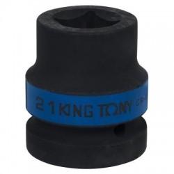 """Головка торцевая ударная четырехгранная 1"""", 21 мм, футорочная KING TONY 851421M"""