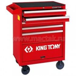 Тележка инструментальная, 5 ящиков и отсек KING TONY 87432-5B