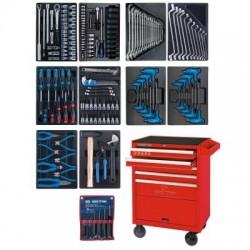 Набор инструментов в красной тележке, 173 предмета KING TONY 932-000MR