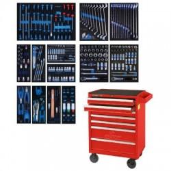 Набор инструментов в красной тележке, 286 предметов KING TONY 934-010MRV
