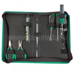 Набор инструментов с газовым паяльником, 8 предметов UNISON 90108PQUS